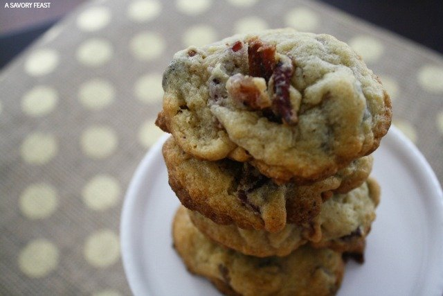 Bacon Pretzel Chocolate Chip Cookies // This ain't your average cookie! Salty and sweet make a winning pair in this creative take on a chocolate chip cookie.