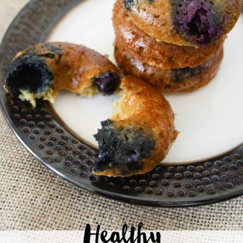 Healthy Blueberry Lavender Almond Donuts