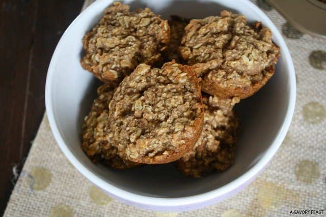 Start your day with these healthy Apple Oat Muffins. So easy to make and so good!