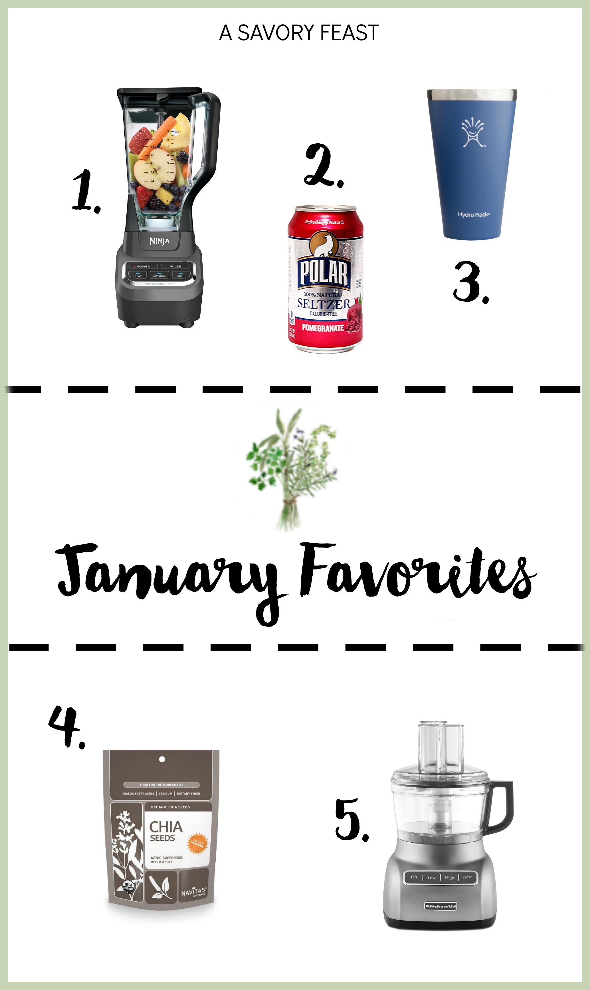 January Favorites // 5 of my favorite foodie products from the past month.