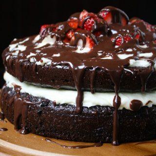 Strawberry Chocolate Cake 6