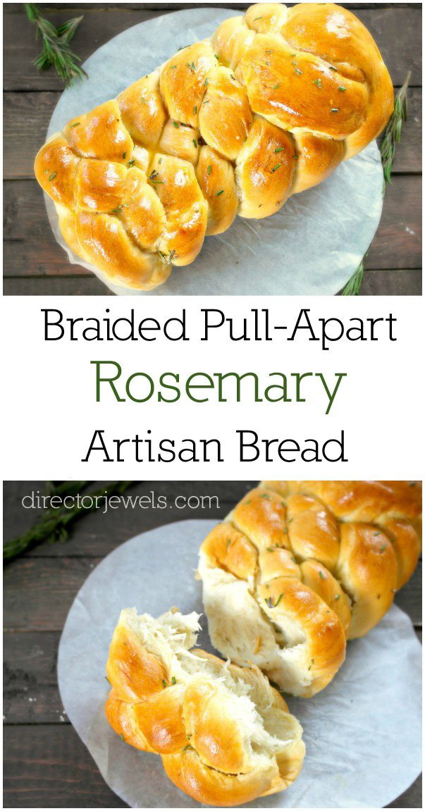 braided pull apart rosemary artisan bread recipe 1