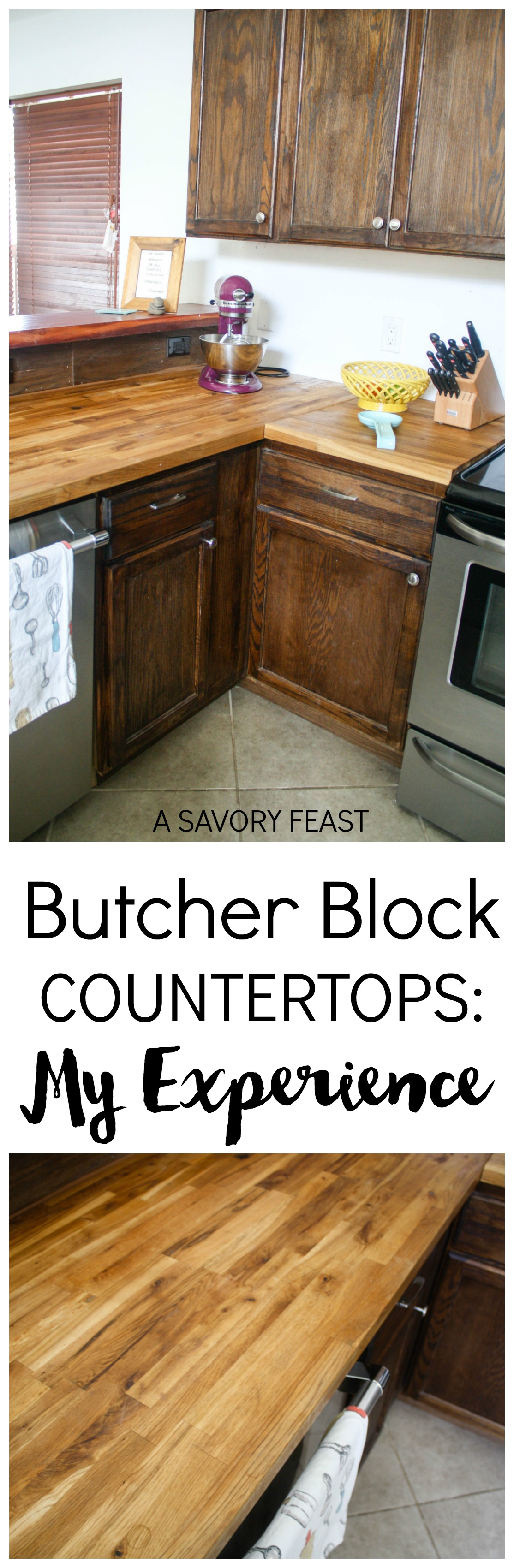 Butcher Block Countertops: My experience after six months, including  initial maintenance and everyday use