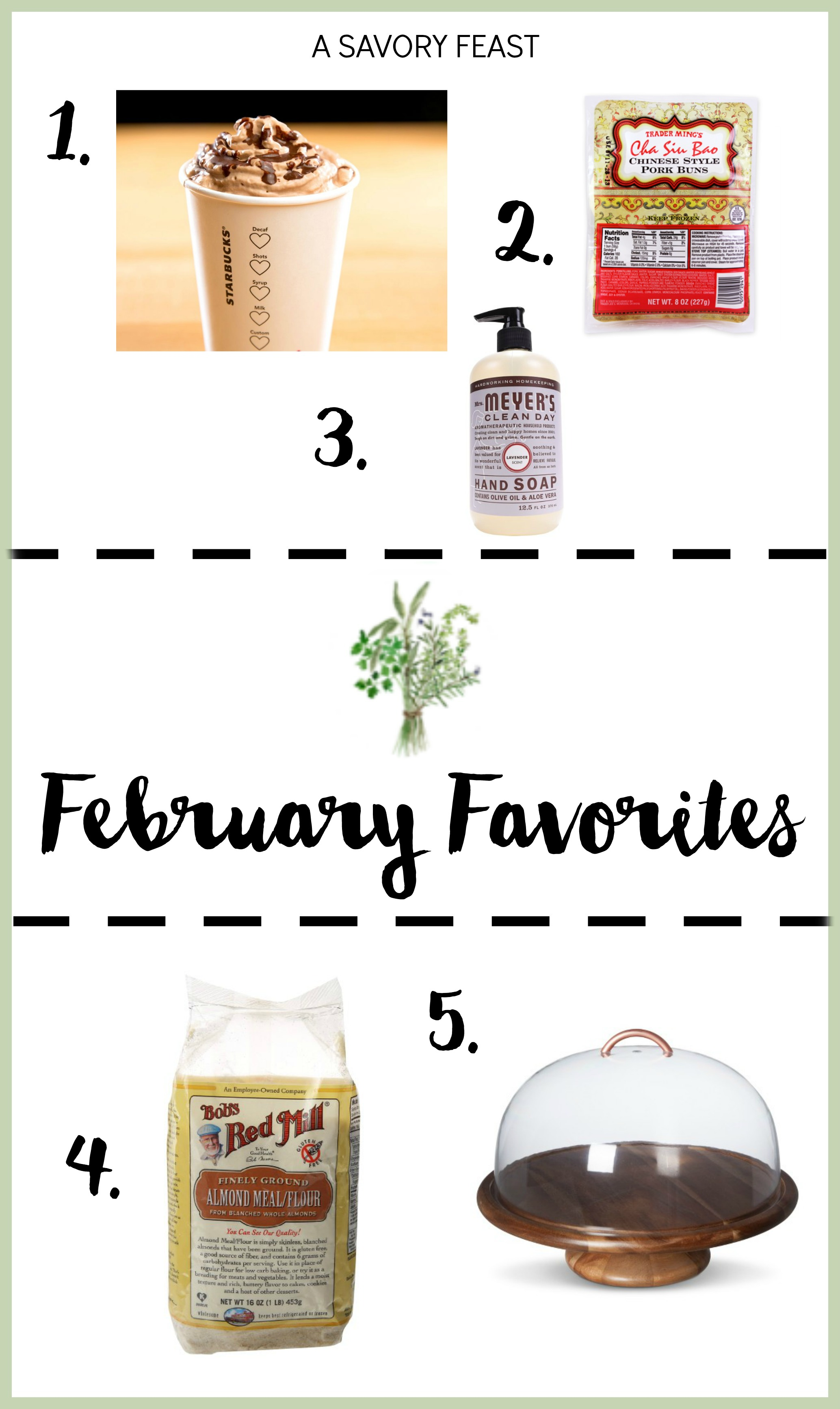 February Favorites: This month's favorite foodie products from Starbuck's Molten Chocolate Latte to a Target Cake Stand.