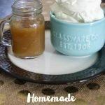 Homemade Pancake Toppings: Whipped Cream and Caramel Sauce