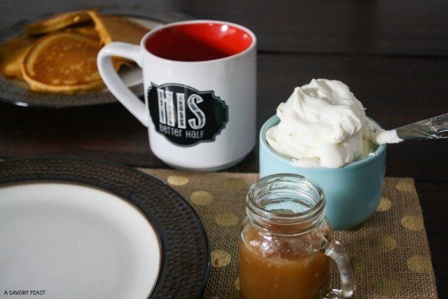 Homemade pancake toppings whipped cream and caramel sauce celebrate special occasions or the weekend with these homemade pancake toppings caramel sauce and whipped ccuart Choice Image