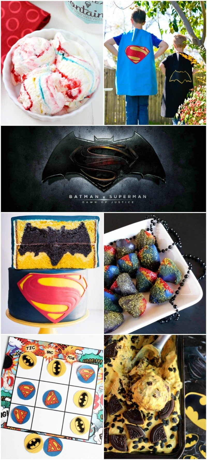 Batman v Superman Recipe and Craft Ideas