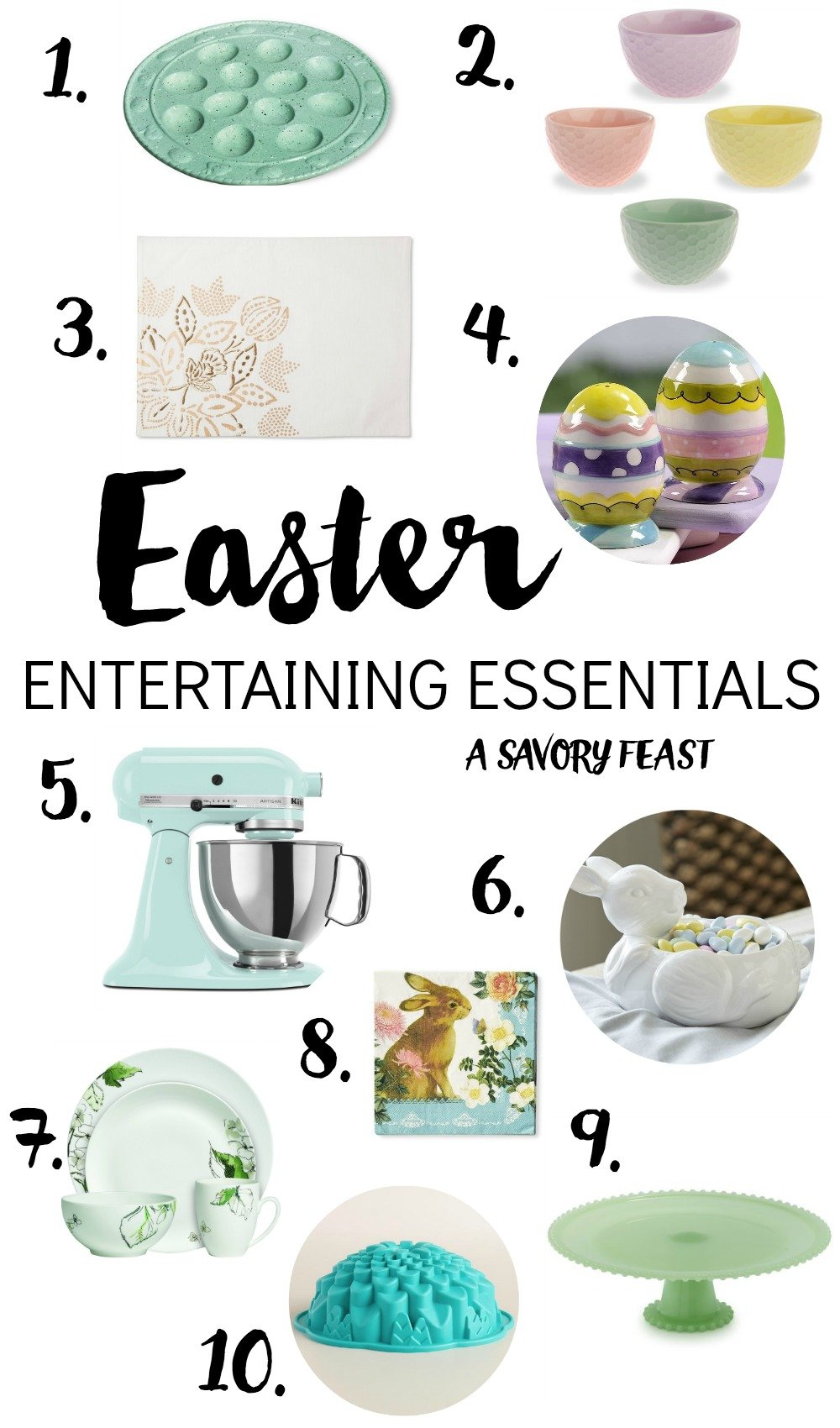 Host the party everyone will be talking about with these Easter Entertaining Essentials in pretty Spring colors.