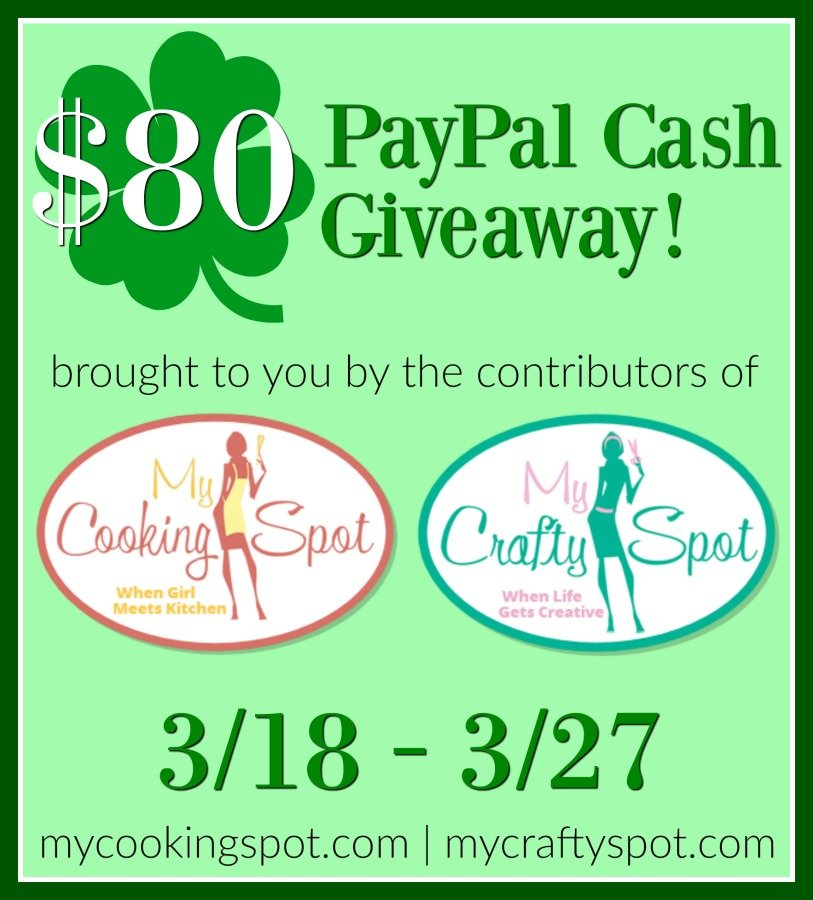 $80 PayPal Cash Giveaway!!! | My Crafty Spot