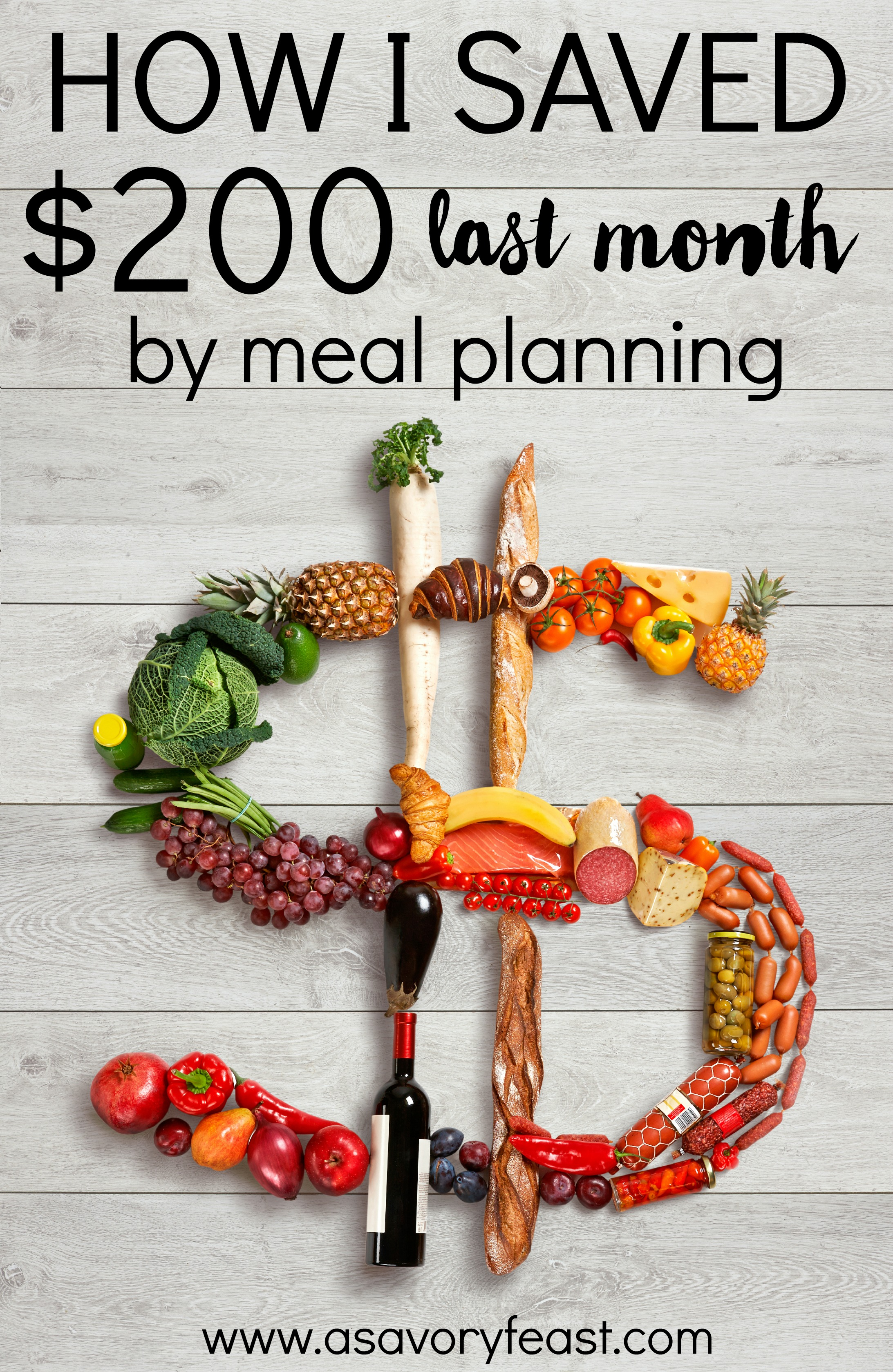 Last month I saved my family $200 by meal planning! Get tips on how to get started with meal planning and learn how it can save you big time!