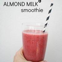 Strawberry Almond Milk Smoothie