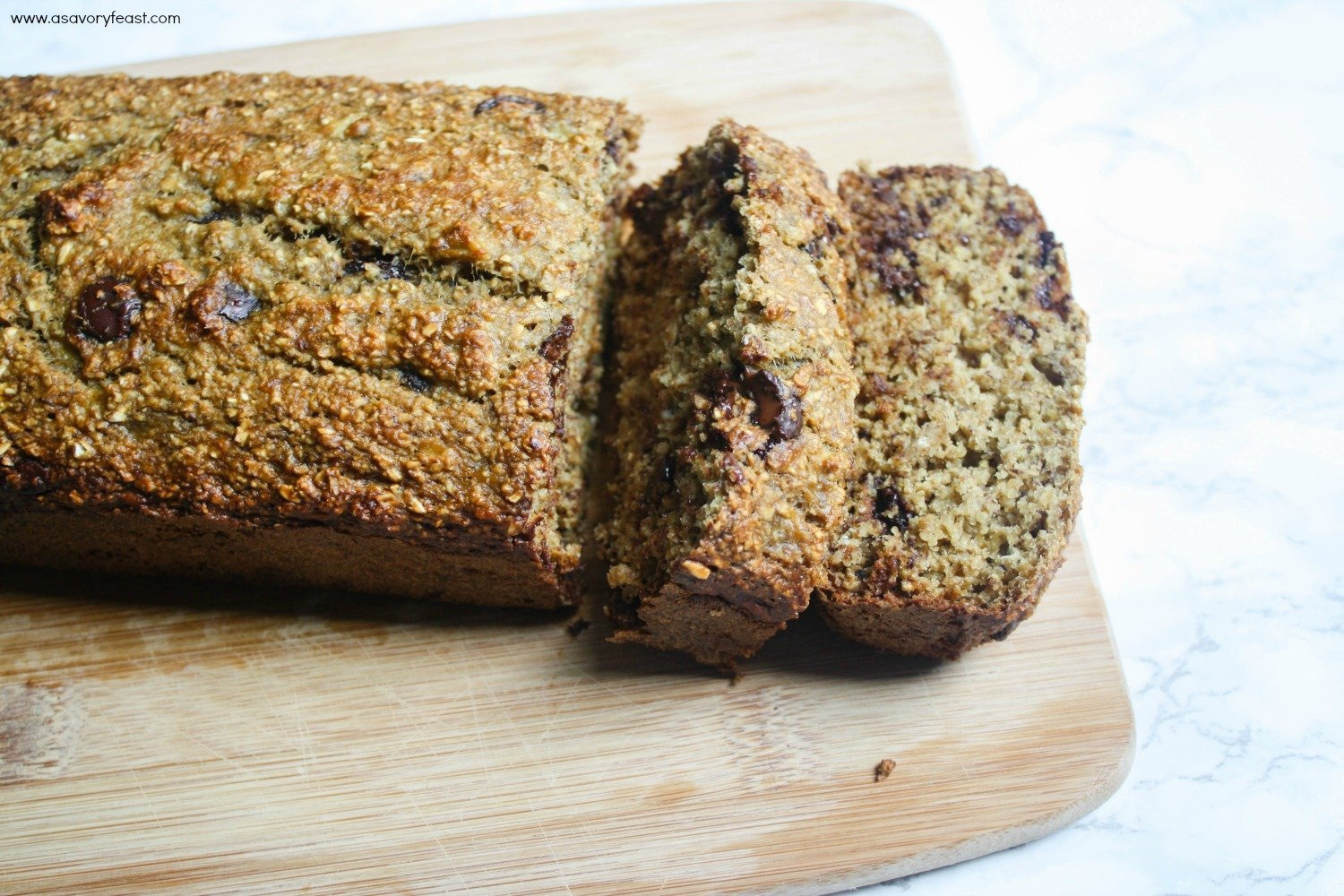 This healthy Banana Bread is gluten free and low in sugar! It's perfect for breakfast or a filling snack.