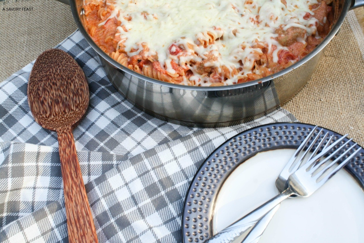 This easy, all-in-one meal is perfect for a busy weeknight! Creamy Ricotta, Tomato and Sausage Skillet is a dinner the whole family will love.