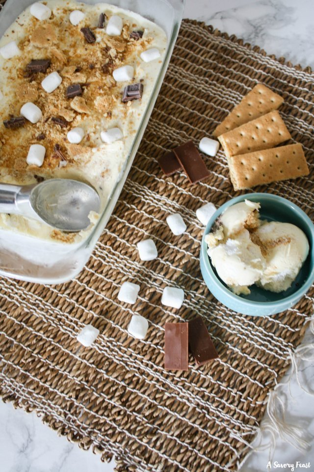 Easy S'mores No Churn Ice Cream is a delicious Summer treat!