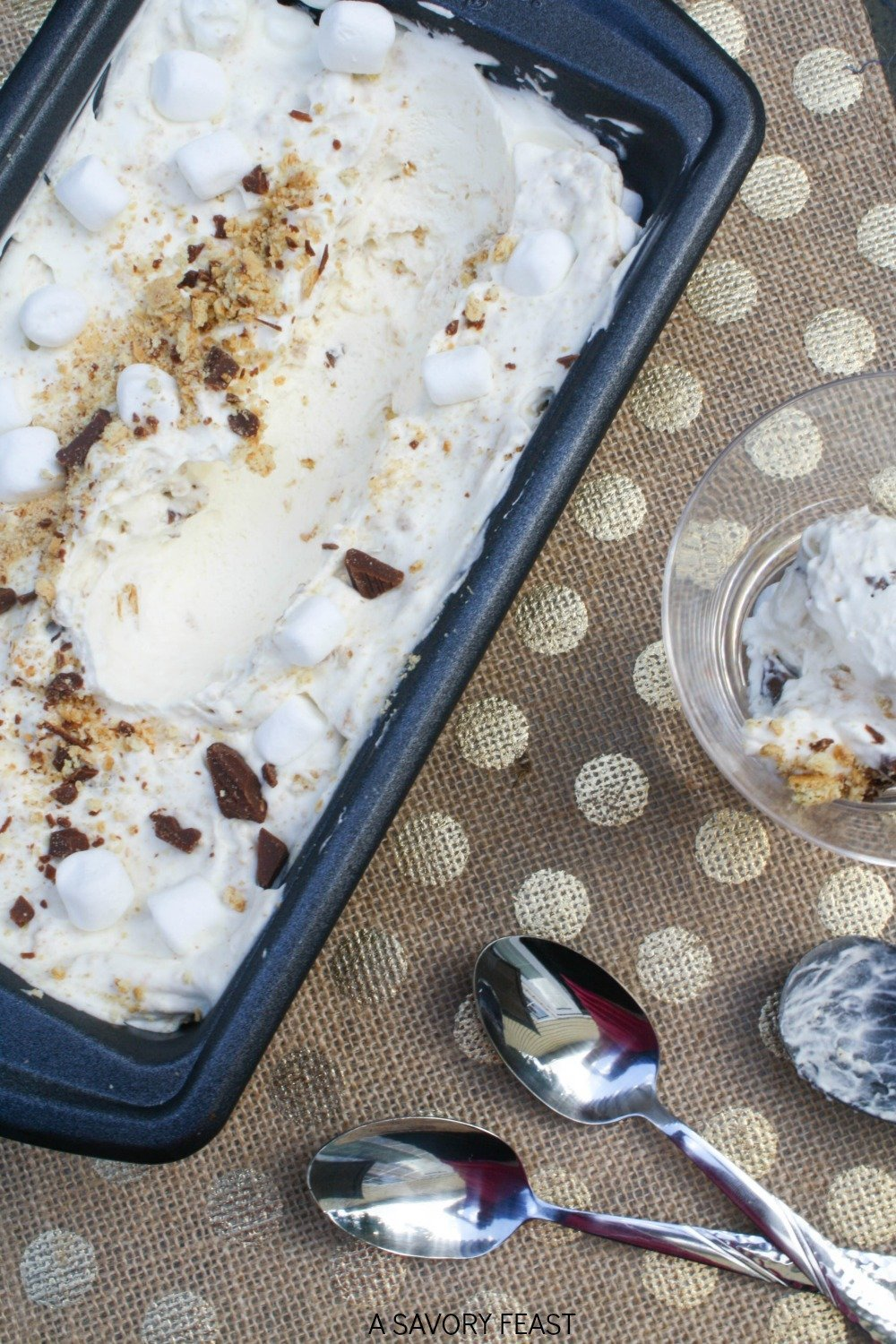 What do you do when the weather gets too warm for a bonfire? Make S'mores Ice Cream of course! This no churn recipe makes it easy to make ice cream at home without a machine.