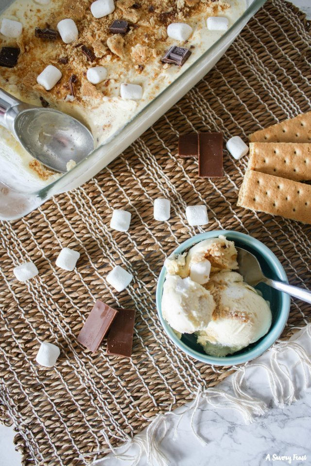Make no churn ice cream without a fancy machine. This S'mores Flavor is heavenly!
