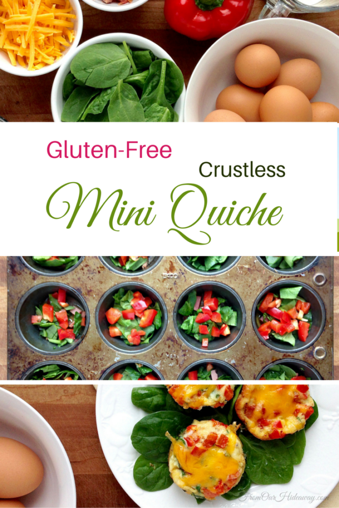Gluten-Free Crustless Mini Quiches from From Our Hideaway