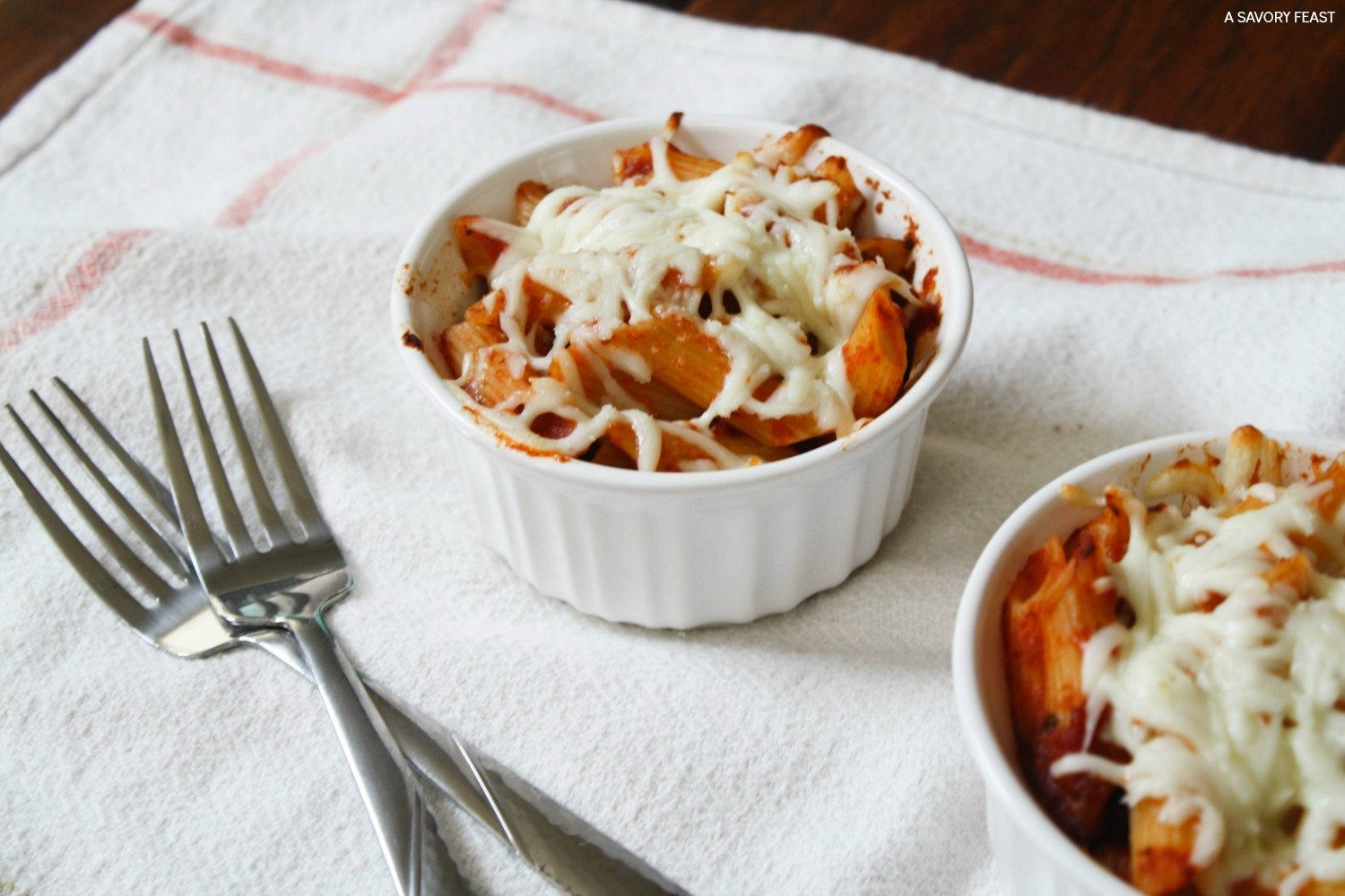 3-Ingredient Mini Baked Pasta Cups are a perfect side dish.