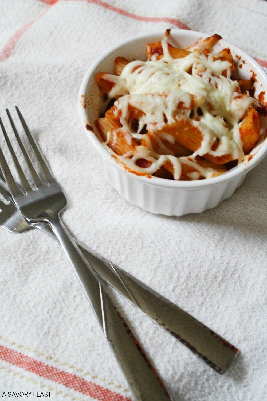 3-Ingredient Mini Baked Pasta Cups Recipe