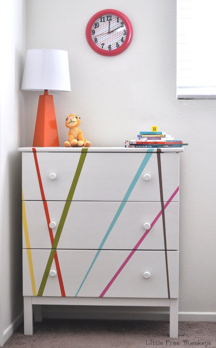 Colorful-Ikea-Tarva-Dresser-Makeover