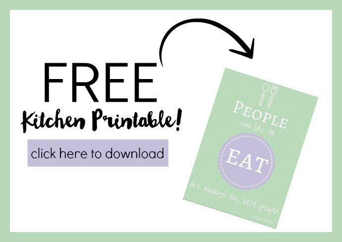 Free Kitchen Printable!