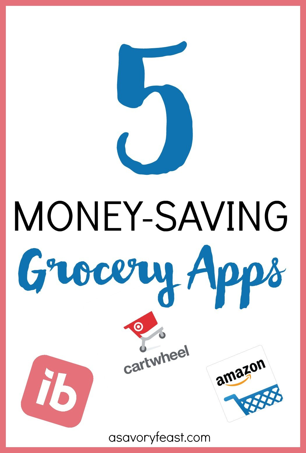5 Money-Saving Grocery Apps // Looking for an easy way to save money on groceries? If couponing just isn't your thing, try downloading these money-saving grocery apps! It only takes a few minutes to save big on groceries with these apps.