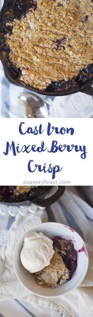 cast-iron-skillet-mixed-berry-oat-crisp