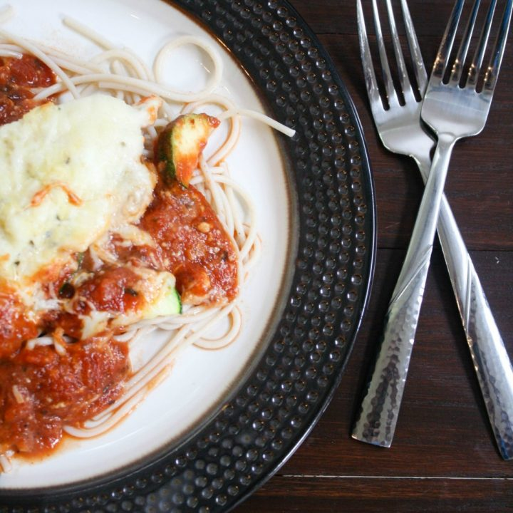 Easy Chicken Parmesan & Vegetables