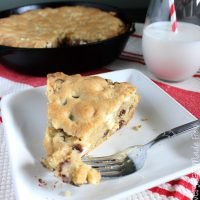 Chunky Chewy Skillet Cookie