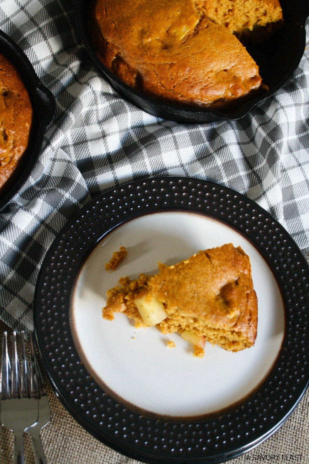 Pumpkin and apple come together in this beautiful skillet cake. It's a light, fluffy cake that has just the right amount of sweetness. Celebrate Fall with this delicious dessert!