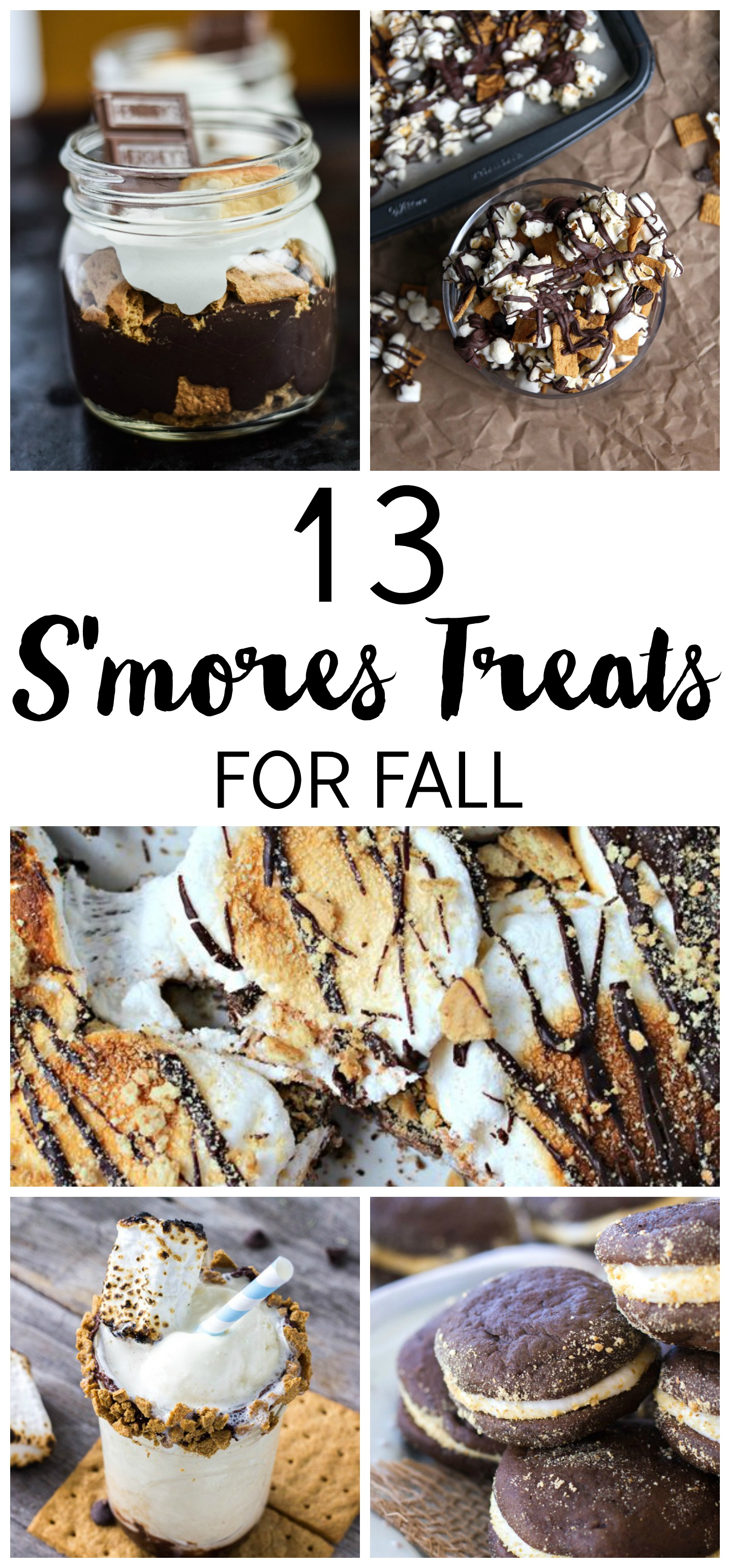 S'mores aren't just for the campfire! Here are 13 incredible S'mores Treats to enjoy this Fall. There are so many ways to incorporate the marshmallow, chocolate and graham cracker flavors. From ice cream to whoopie pies to popcorn!