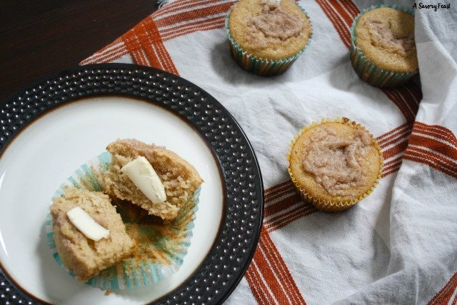 These Maple Cinnamon Muffins taste like a cross between pancakes and coffee cake. Mix up these easy muffins for a delicious make ahead breakfast.