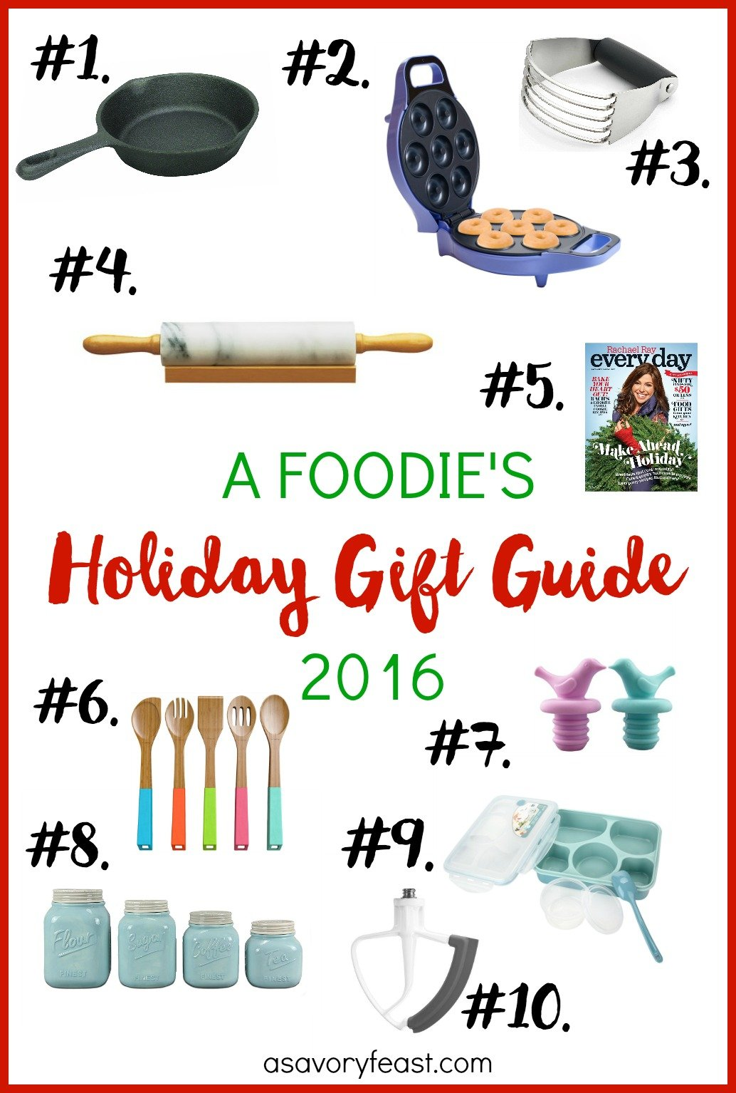 Does someone on your holiday shopping list love to cook (or just loves to eat?)? Check out A Savory Feast's Foodie's Holiday Gift Guide 2016 for lots of great gift ideas. Any of these suggestions will delight any foodie this Christmas season.