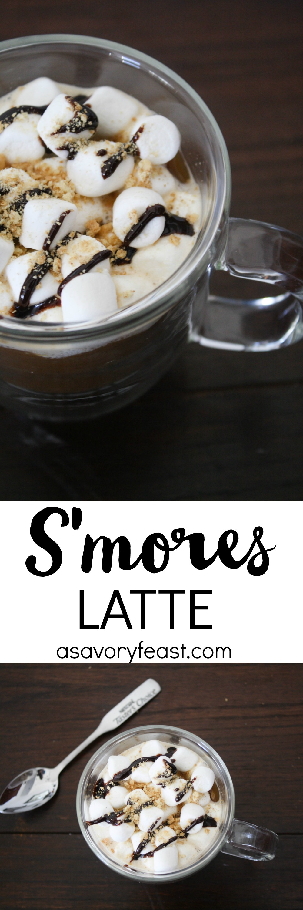 Make this beautiful yet simple S'mores Latte at home! Start with instant coffee and add in a few ingredients to make this coffee house drink at home. Ready in minutes!