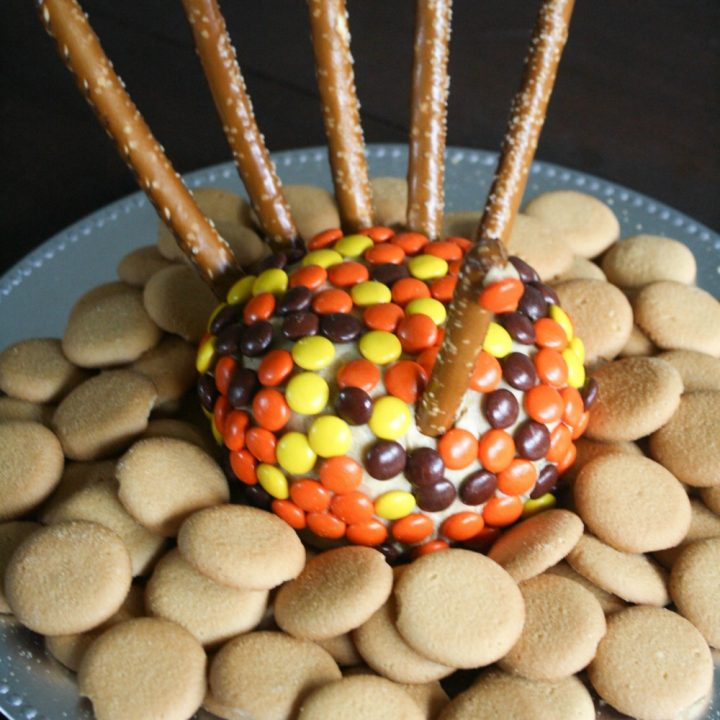 Thanksgiving Turkey Peanut Butter Cheeseball