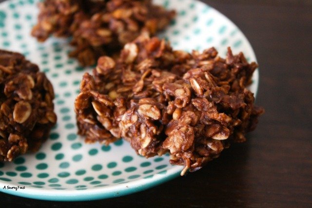 These Chocolate Oat No-Bake Cookies are so easy to make and they are good for you, too! Gluten free and refined sugar free, sweetened with maple syrup. Mix them up in about 10 minutes! It doesn't get any easier than that.