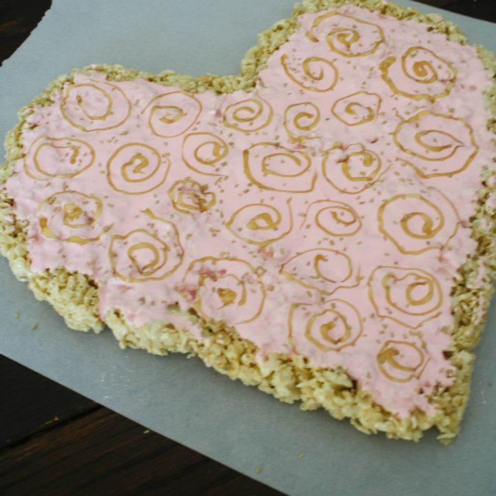 Valentine's Day Rice Krispies Treat Heart