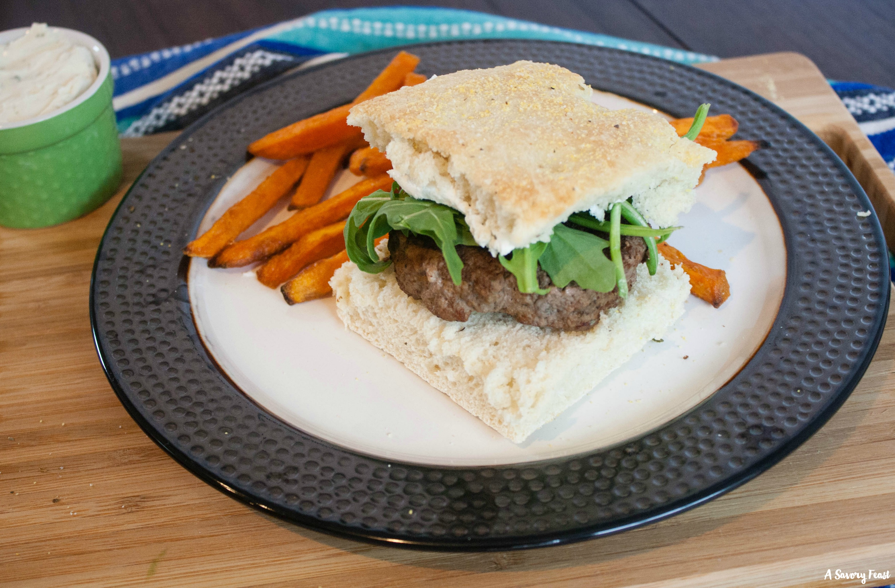 Need an idea for dinner tonight? Try these Goat Cheese and Herb Burgers with Homemade Focaccia Buns