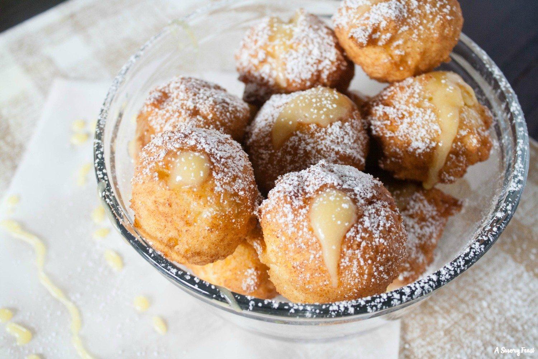 How to make homemade stuffed donut holes.