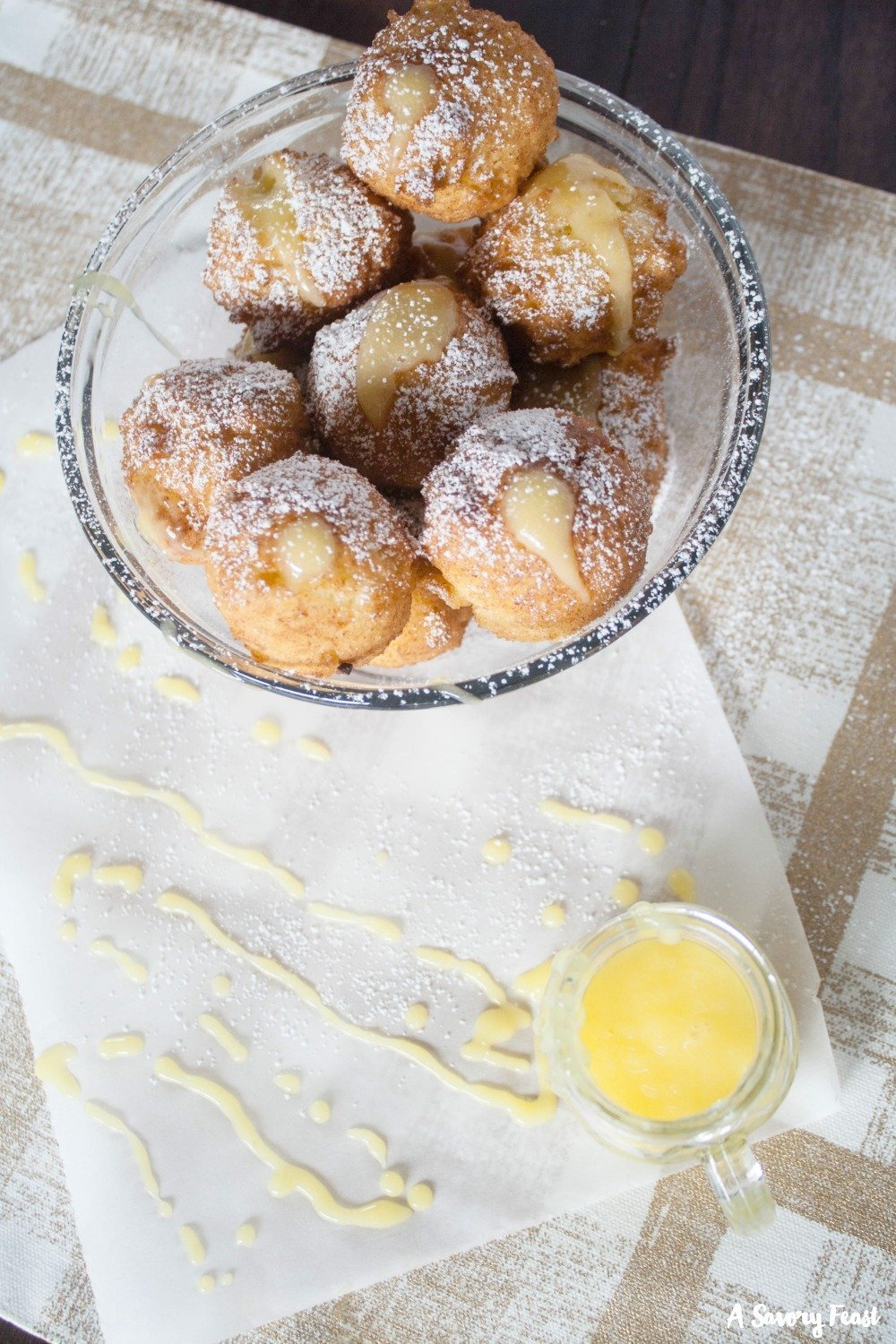 Lemon and ricotta come together in this delicious homemade donut hole recipe!