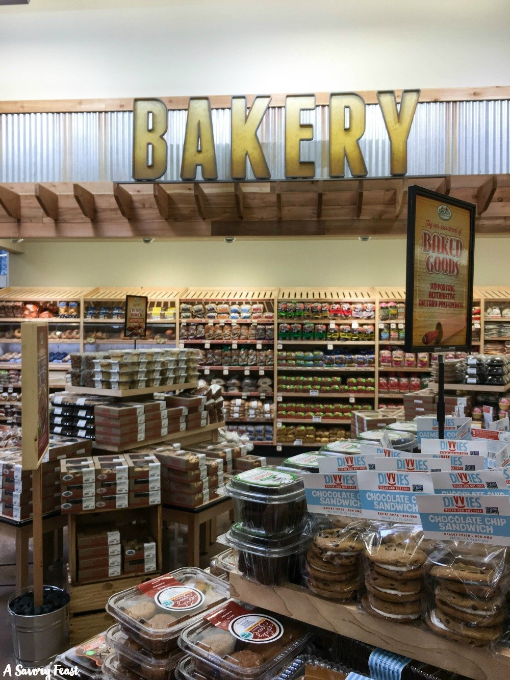 The bakery at Sprouts Farmers Market features lots of delicious treats and healthy breads.