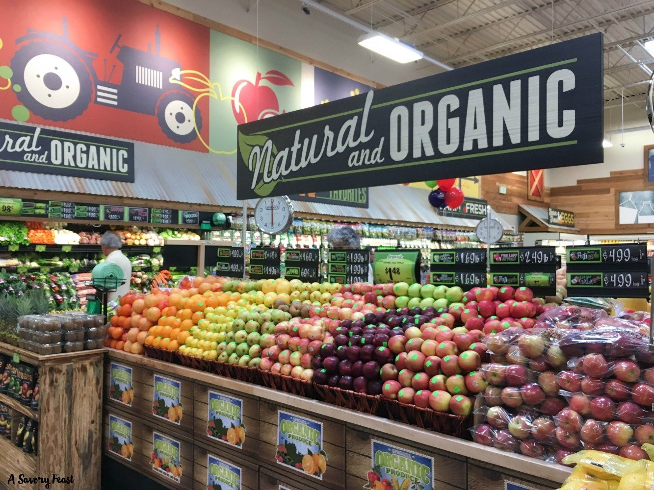 At the center of Sprouts is their produce. It's a HUGE section packed with a wide variety of natural and organic fruits and veggies.