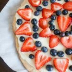 Egg Free Red, White and Blue Fruit Pizza