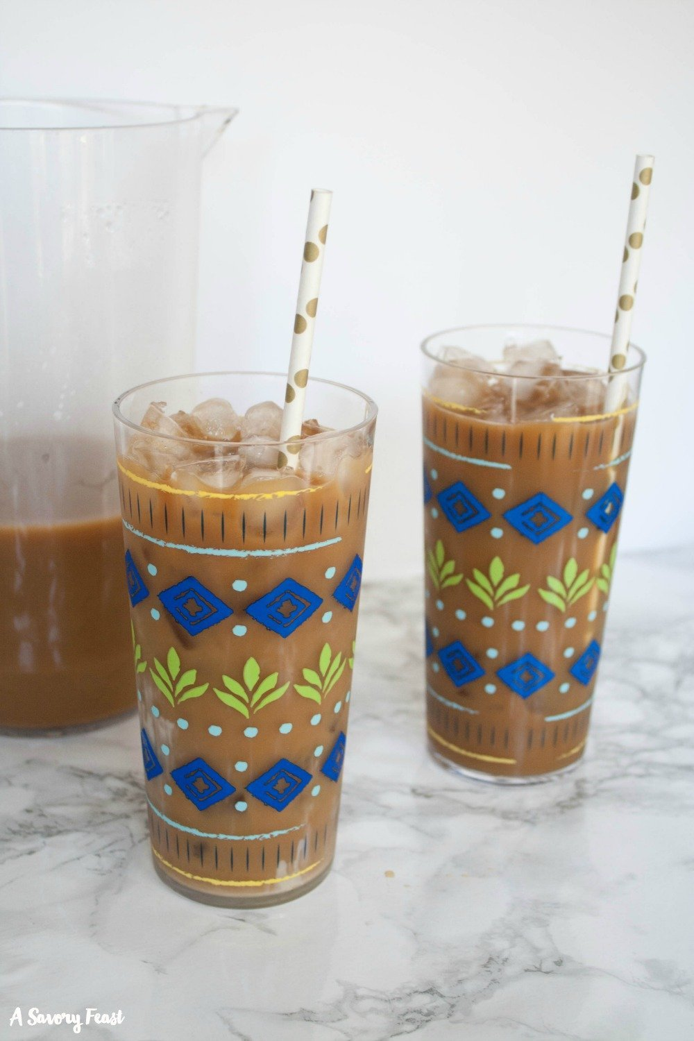Make a big batch of this delicious homemade iced coffee.