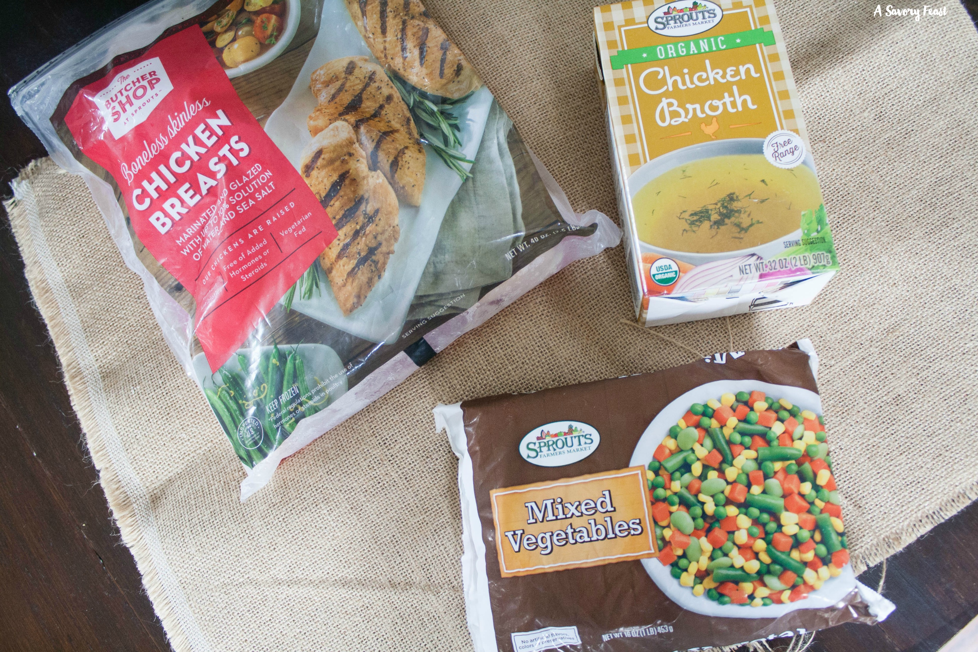 Sprouts ingredients for Ranch Chicken Pot Pie