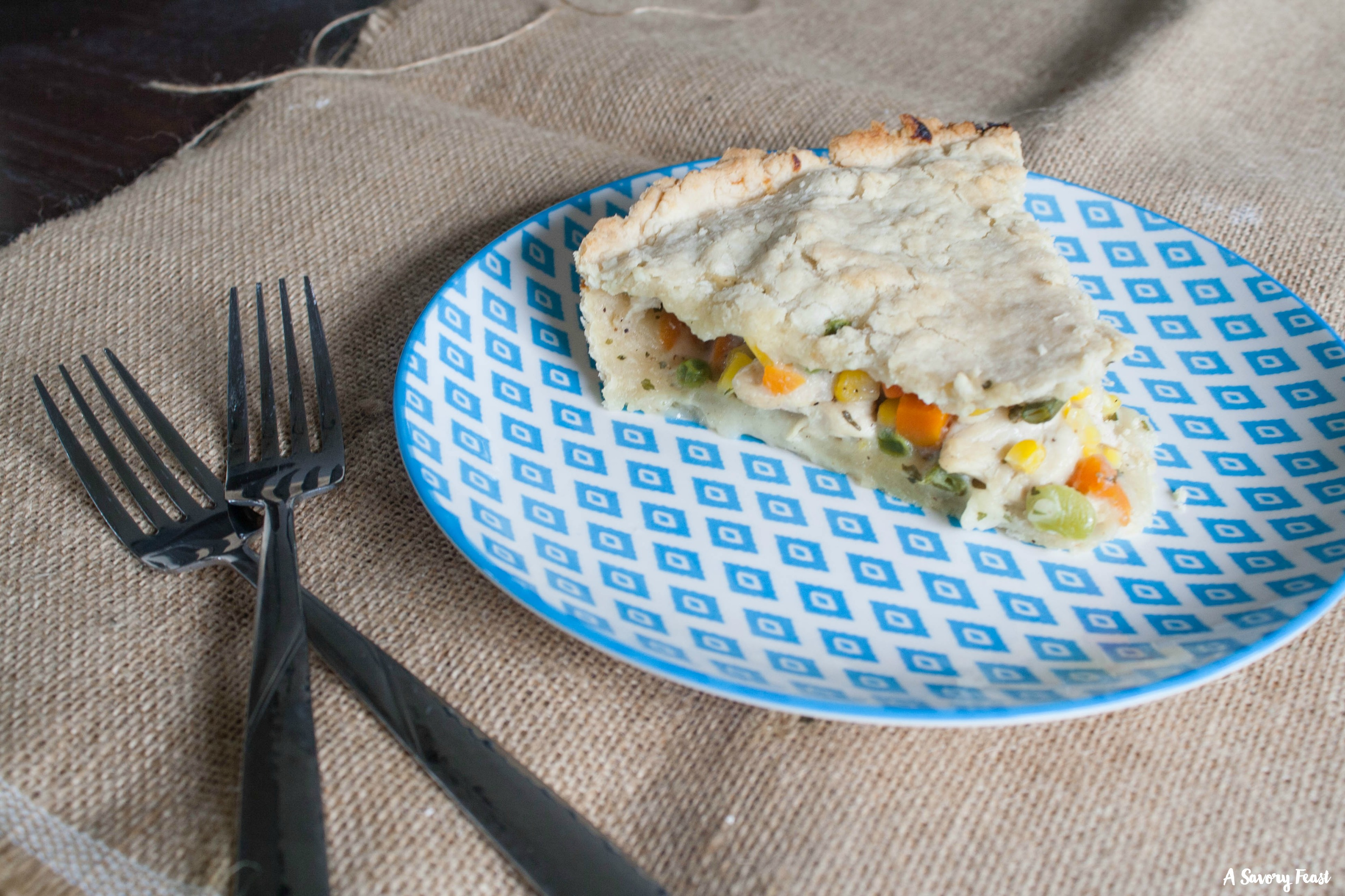 Recipe for Ranch Chicken Pot Pie
