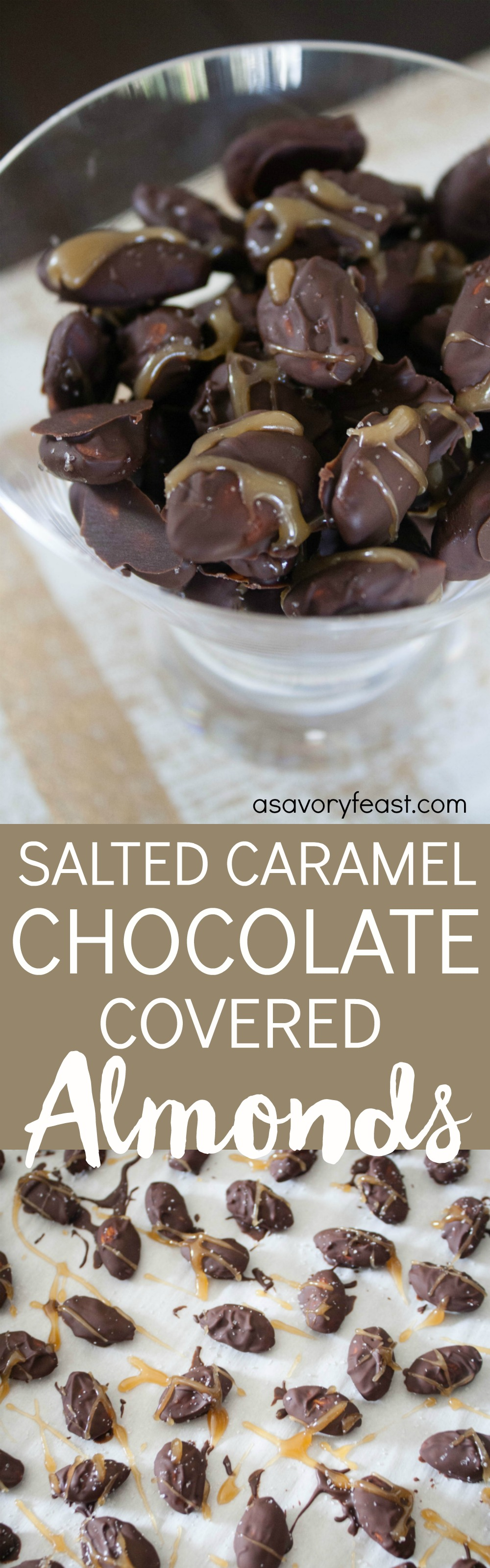 Salted Caramel Chocolate-Covered Almonds
