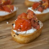 Tomato & Goat Cheese Crostini