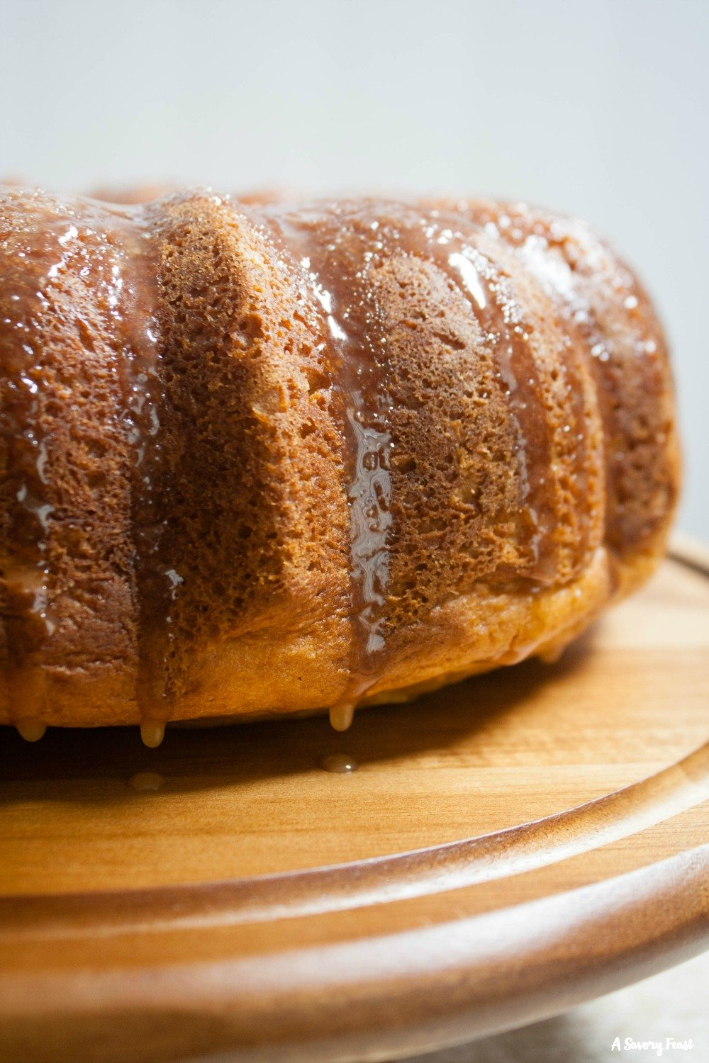 Dress up a boxed cake mix for Fall with this Pumpkin Cake with Salted Caramel Glaze.