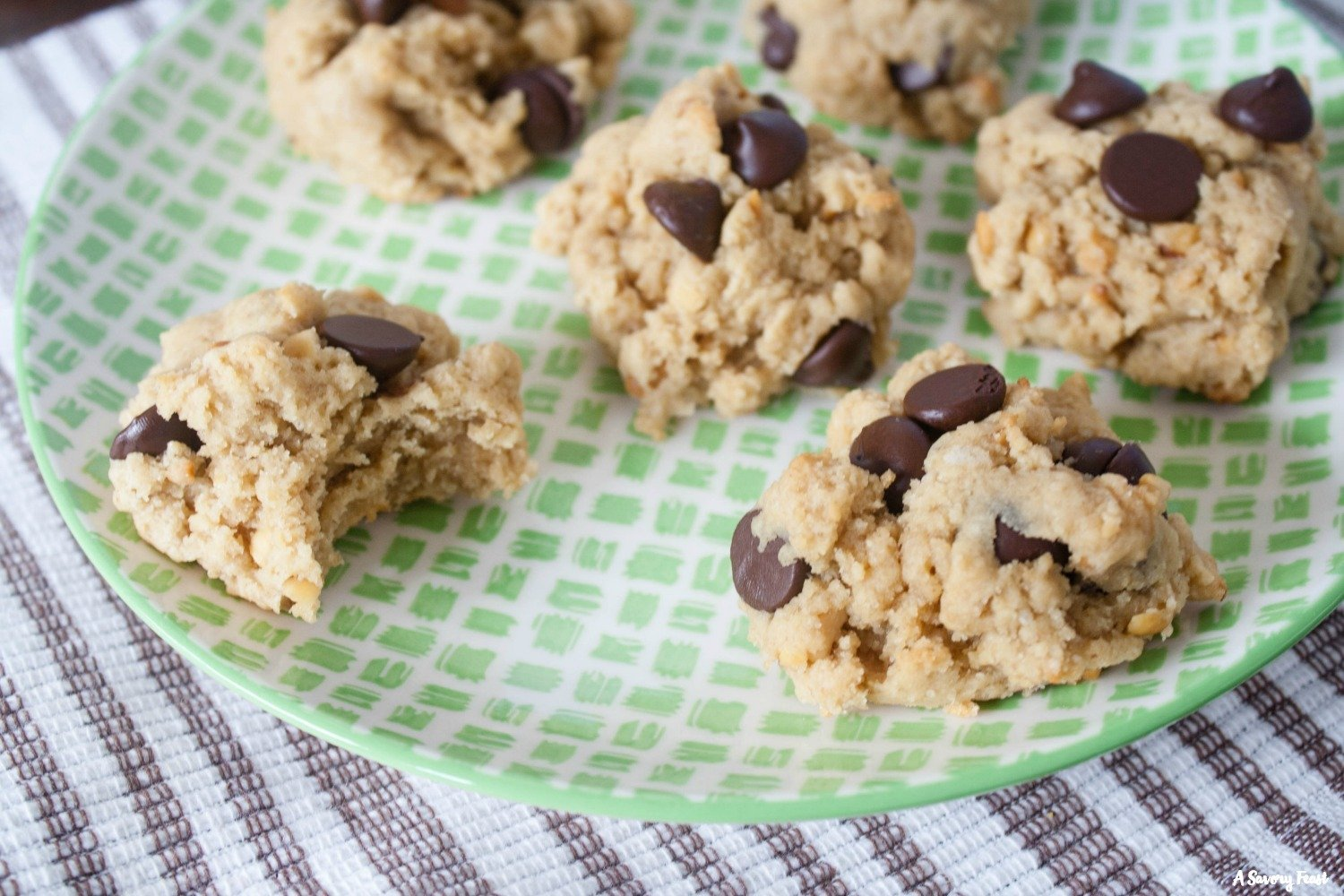 Peanut Butter Cream Cheese Chocolate Chip Cookies